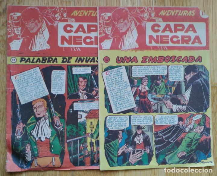 LOTE 2 CÓMICS - CAPA NEGRA - ED. RICART. NÚMEROS 10 Y 13 (Tebeos y Comics - Ricart - Otros)