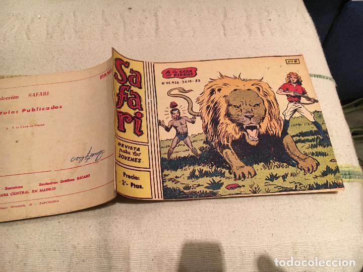 SAFARI Nº6. A LA CAZA DE FIERAS .RICART 1963. ORIGINAL (Tebeos y Comics - Ricart - Otros)