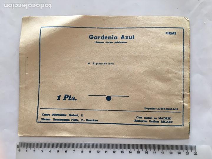 Tebeos: GARDENIA AZUL. EL PINTOR DE FLORES. EXCL. GRÁFICAS RICART. AÑO 1959 - Foto 2 - 169742722