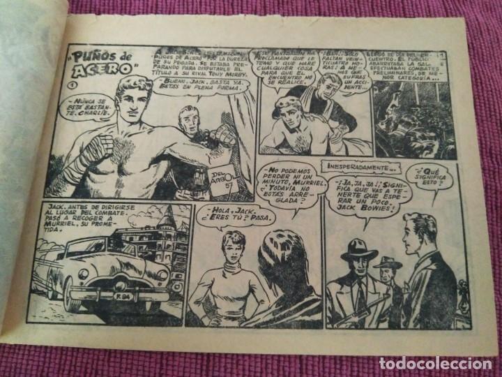 Tebeos: Raro. N°1 Puños de acero. Aventuras deportivas. Del Arbol, 1957. - Foto 2 - 169802656