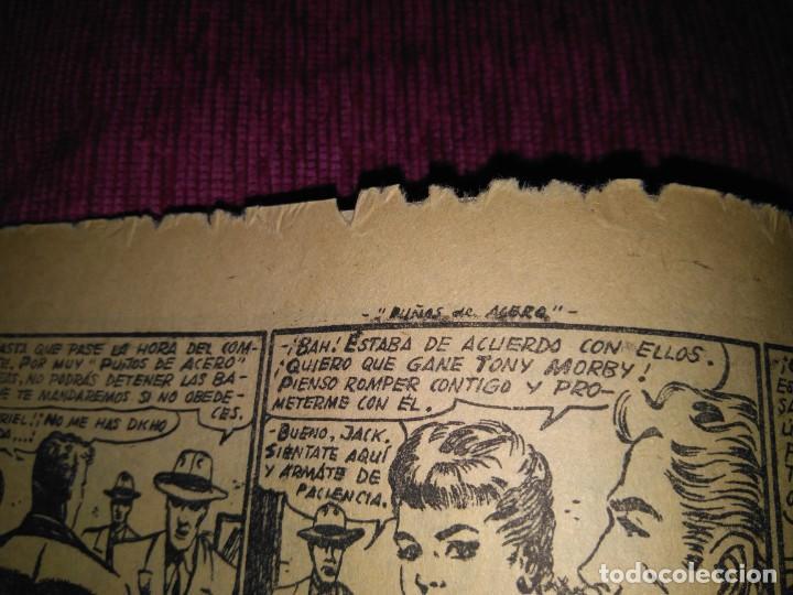 Tebeos: Raro. N°1 Puños de acero. Aventuras deportivas. Del Arbol, 1957. - Foto 3 - 169802656