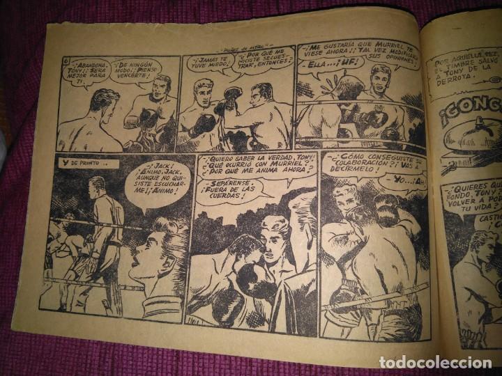 Tebeos: Raro. N°1 Puños de acero. Aventuras deportivas. Del Arbol, 1957. - Foto 4 - 169802656