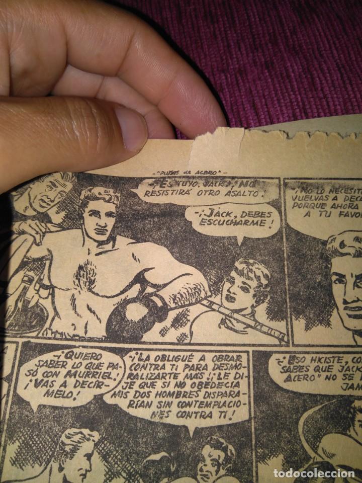 Tebeos: Raro. N°1 Puños de acero. Aventuras deportivas. Del Arbol, 1957. - Foto 5 - 169802656