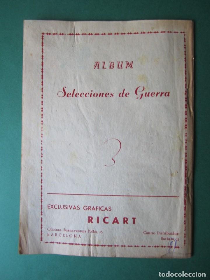 Tebeos: SELECCIONES DE GUERRA (1954, RICART) -ALBUM- 16 · 1954 · ALBUM SELECCIONES DE GUERRA - Foto 2 - 172580278