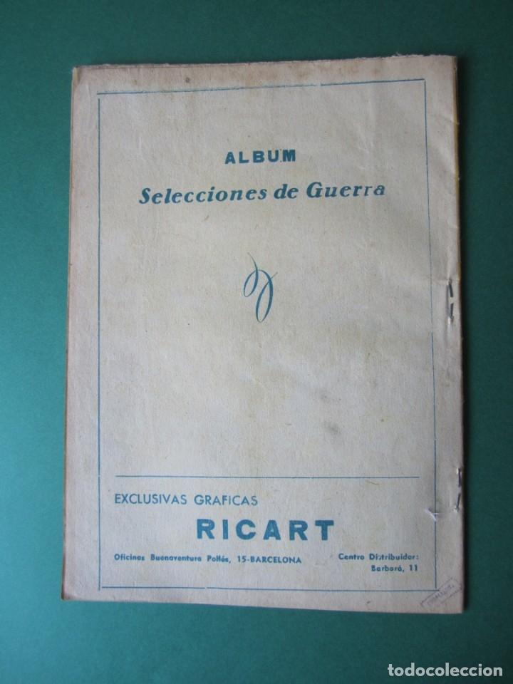 Tebeos: SELECCIONES DE GUERRA (1954, RICART) -ALBUM- 8 · 1954 · ALBUM SELECCIONES DE GUERRA - Foto 2 - 172580798