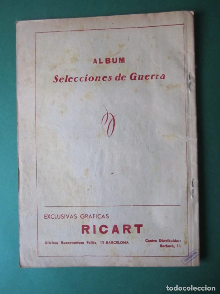 Tebeos: SELECCIONES DE GUERRA (1954, RICART) -ALBUM- 7 · 1954 · ALBUM SELECCIONES DE GUERRA - Foto 2 - 172580934