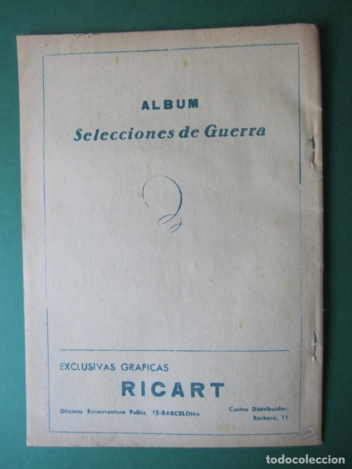 Tebeos: SELECCIONES DE GUERRA (1954, RICART) -ALBUM- 5 · 1954 · ALBUM SELECCIONES DE GUERRA - Foto 2 - 172581058