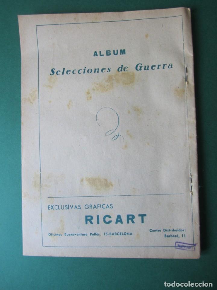 Tebeos: SELECCIONES DE GUERRA (1954, RICART) -ALBUM- 5 · 1954 · ALBUM SELECCIONES DE GUERRA - Foto 2 - 172581147