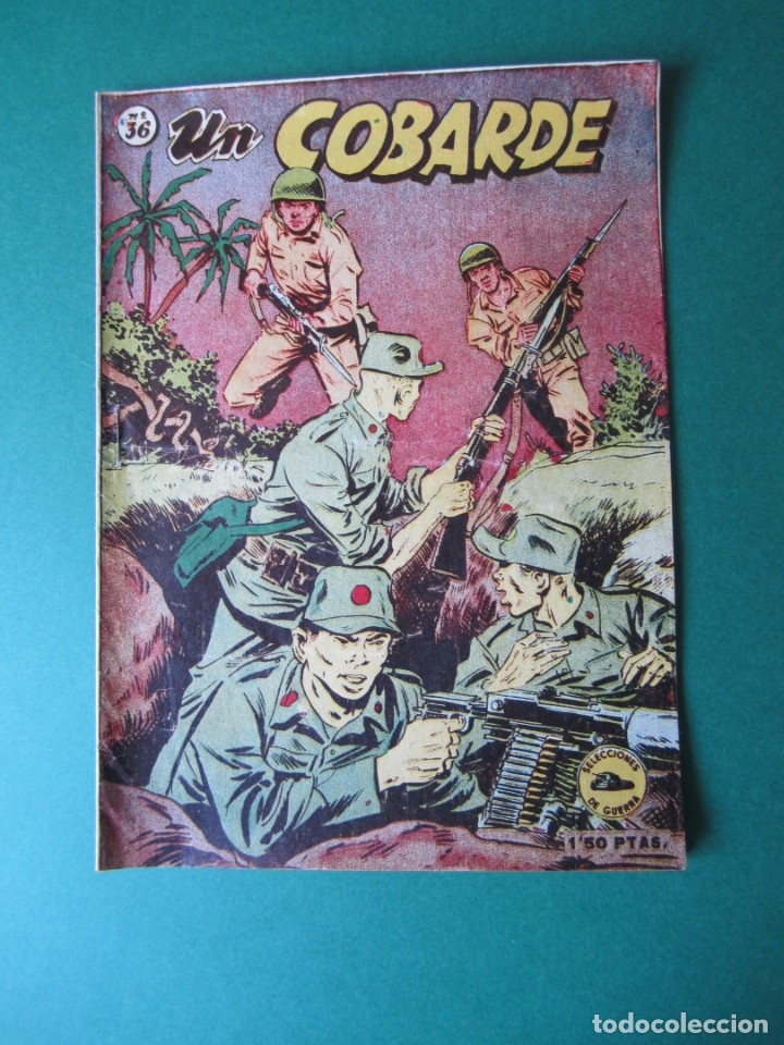 SELECCIONES DE GUERRA (1952, RICART) 36 · 1-V-1954 · UN COBARDE (Tebeos y Comics - Ricart - Otros)