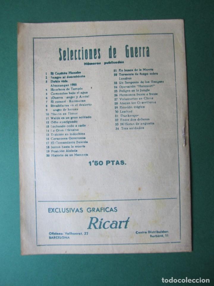 Tebeos: SELECCIONES DE GUERRA (1952, RICART) 35 · 15-IV-1954 · VEINTE AÑOS DE ESPERA - Foto 2 - 172581938
