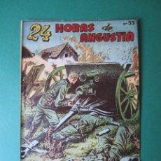 Tebeos: SELECCIONES DE GUERRA (1952, RICART) 33 · 15-III-1954 · HORAS DE ANGUSTIA. Lote 172582027