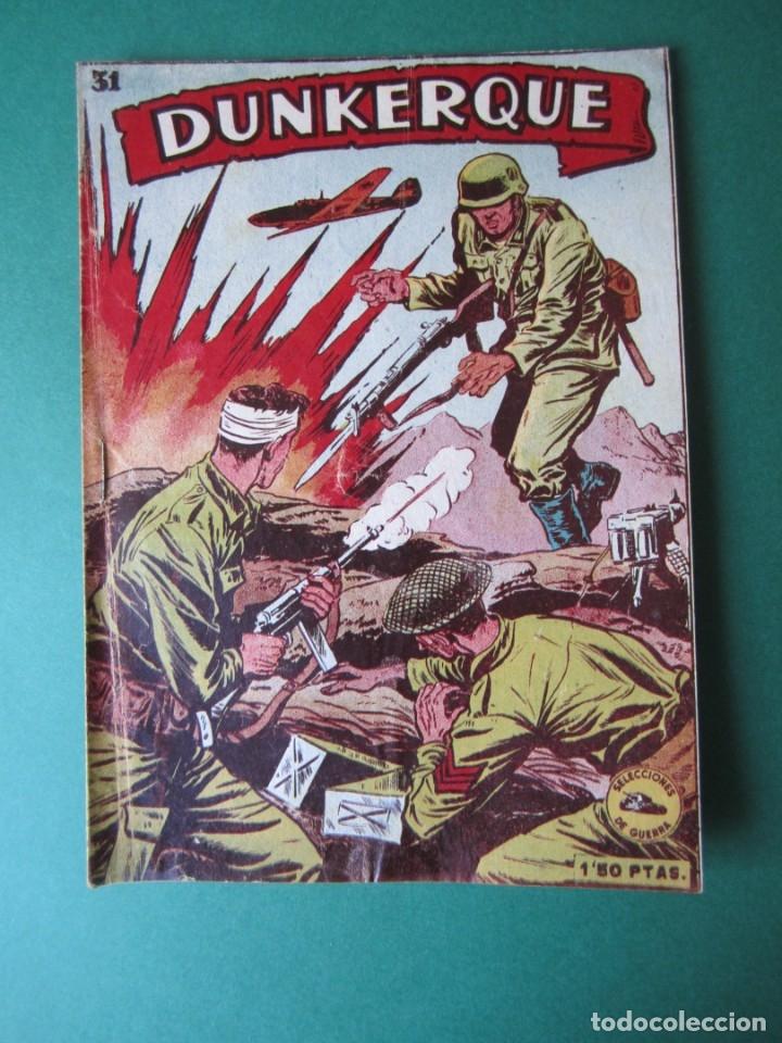 SELECCIONES DE GUERRA (1952, RICART) 31 · 15-II-1954 · DUNKERQUE (Tebeos y Comics - Ricart - Otros)