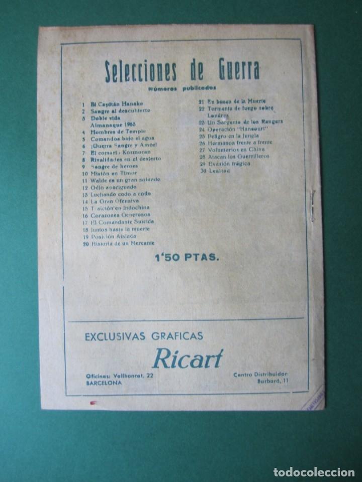 Tebeos: SELECCIONES DE GUERRA (1952, RICART) 30 · 1-II-1954 · LEALTAD - Foto 2 - 172582269