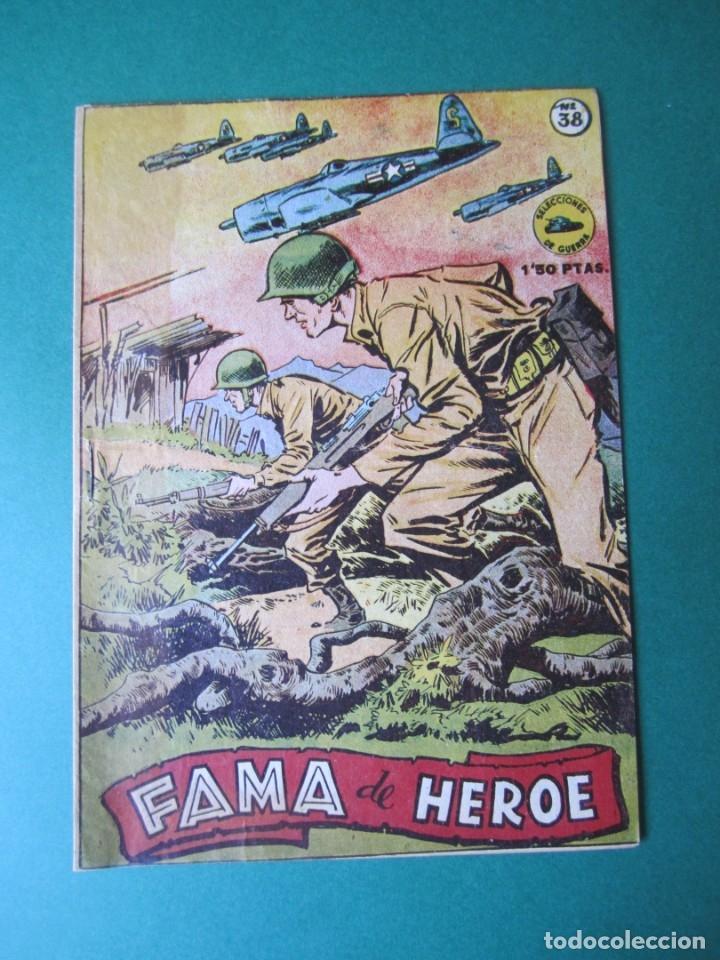 SELECCIONES DE GUERRA (1952, RICART) 38 · 1-II-1954 · FAMA DE HEROE (Tebeos y Comics - Ricart - Otros)