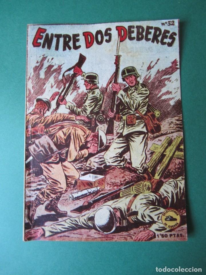 SELECCIONES DE GUERRA (1952, RICART) 32 · 1-III-1954 · ENTRE DOS DEBERES (Tebeos y Comics - Ricart - Otros)