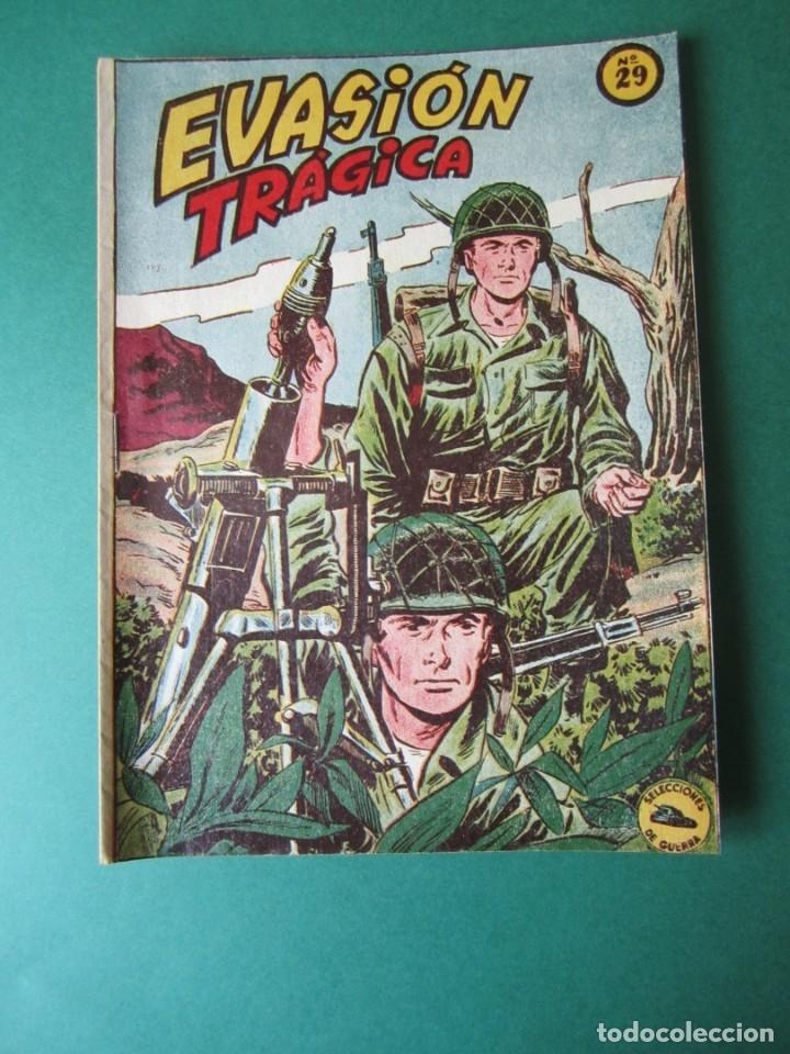 SELECCIONES DE GUERRA (1952, RICART) 29 · 1-III-1954 · EVASIÓN TRAGICA (Tebeos y Comics - Ricart - Otros)