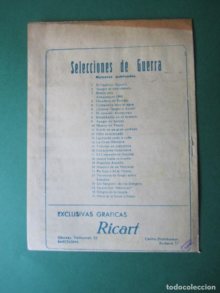 Tebeos: SELECCIONES DE GUERRA (1952, RICART) 26 · 1-III-1954 · HERMANOS FRENTE A FRENTE - Foto 2 - 172582655