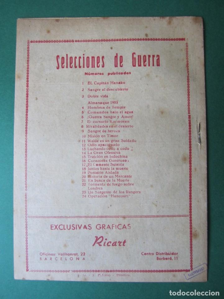 Tebeos: SELECCIONES DE GUERRA (1952, RICART) 24 · 1-III-1954 · OPERACION HANCOURT - Foto 2 - 172582757