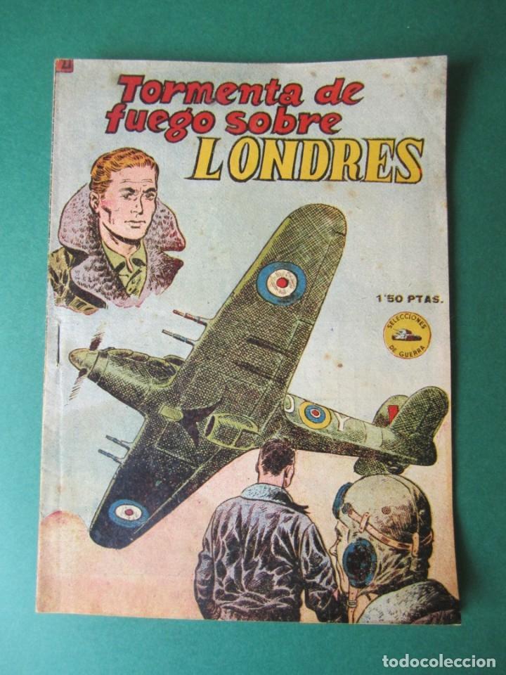 SELECCIONES DE GUERRA (1952, RICART) 22 · 1-X-1953 · TORMENTA DE FUEGO SOBRE LONDRES (Tebeos y Comics - Ricart - Otros)