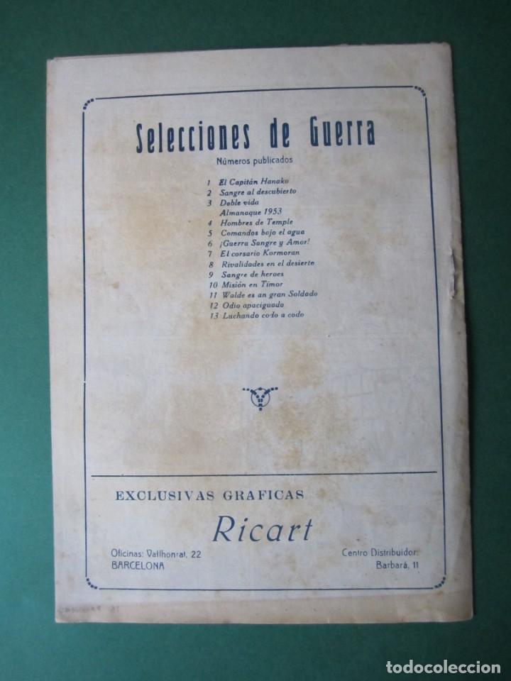 Tebeos: SELECCIONES DE GUERRA (1952, RICART) 13 · 15-V-1953 · LUCHANDO CODO A CODO - Foto 2 - 172583185