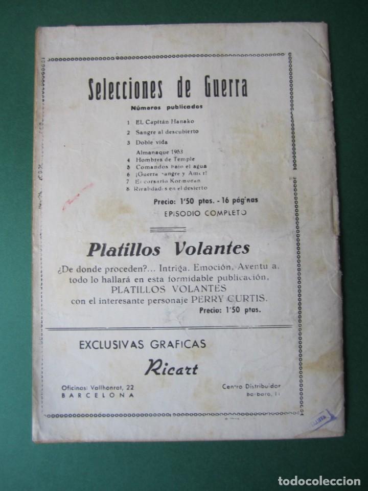 Tebeos: SELECCIONES DE GUERRA (1952, RICART) 8 · 1-III-1953 · RIVALIDAD EN EL DESIERTO - Foto 2 - 172583343