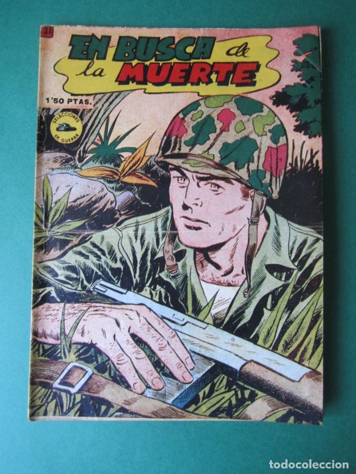 SELECCIONES DE GUERRA (1952, RICART) 21 · 1-III-1953 · EN BUSCA DE LA MUERTE (Tebeos y Comics - Ricart - Otros)