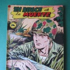 Tebeos: SELECCIONES DE GUERRA (1952, RICART) 21 · 1-III-1953 · EN BUSCA DE LA MUERTE. Lote 172583719