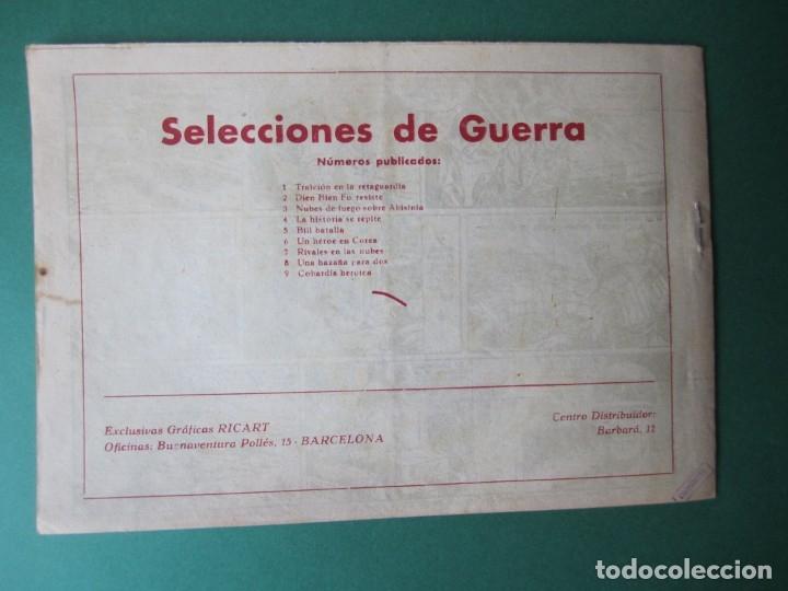 Tebeos: SELECCIONES DE GUERRA (1955, RICART) 9 · 1955 · COBARDÍA HERÓICA - Foto 2 - 172584024