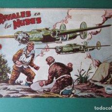 Tebeos: SELECCIONES DE GUERRA (1955, RICART) 7 · 1955 · RIVALES EN LAS NUBES. Lote 172584160