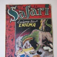 Tebeos: SAFARI (1953, RICART) 18 · 1953 · ENIGMA TRAS ENIGMA. Lote 172591717