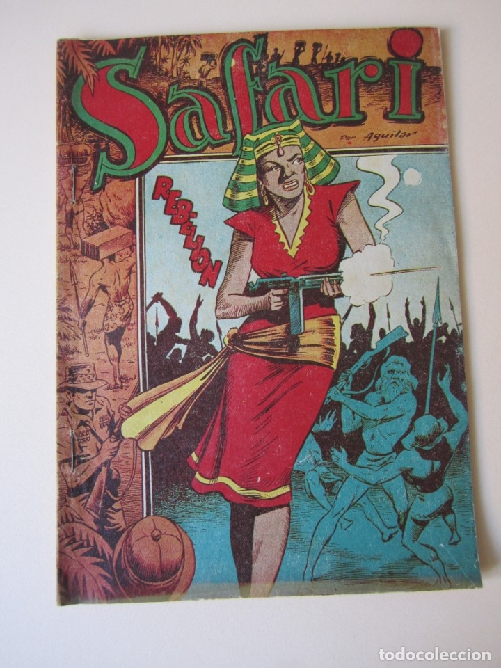SAFARI (1954, RICART) 8 · 1954 · REBELIÓN ¡¡¡ DIFICIL !!!! (Tebeos y Comics - Ricart - Safari)