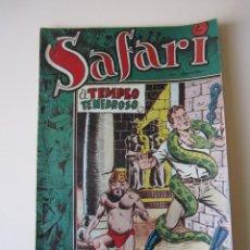 Tebeos: SAFARI (1954, RICART) 4 · 1954 · EL TEMPLO TENEBROSO. Lote 172592135