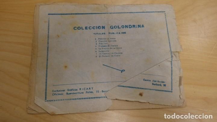 Tebeos: COLECCIÓN GOLONDRINA. EL PROFESSOR DE VIOLIN - Foto 2 - 173060404
