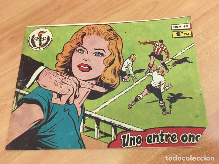 AVENTURAS DEPORTIVAS Nº 10 (ORIGINAL RICART) PRIMERA EDICION 1 PTA (COIB25) (Tebeos y Comics - Ricart - Aventuras Deportivas)
