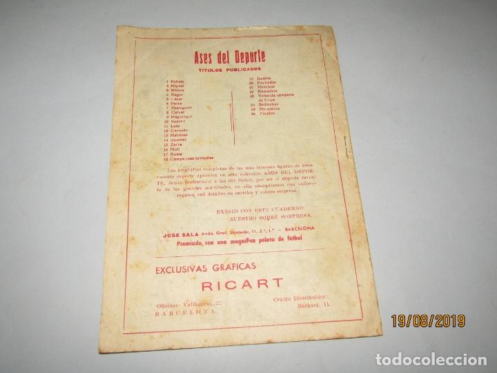 Tebeos: Antiguo TBO Colección ASES DEL DEPORTE con FUERTES Graficas RICART Jugador del Valencia - Foto 2 - 174212097