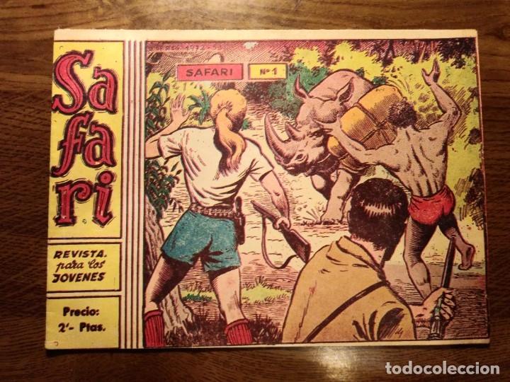 Tebeos: SAFARI REVISTA PARA LOS JÓVENES. Nºs del 1 AL 16. COMPLETA. EDICIONES RICART. - Foto 2 - 175518808
