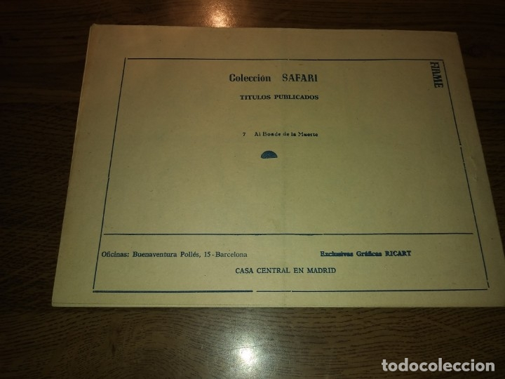 Tebeos: SAFARI REVISTA PARA LOS JÓVENES. Nºs del 1 AL 16. COMPLETA. EDICIONES RICART. - Foto 23 - 175518808