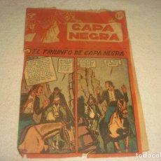 Tebeos: CAPA NEGRA N. 17. EL TRIUNFO DE LA CAPA NEGRA. ORIGINAL.. Lote 178376183