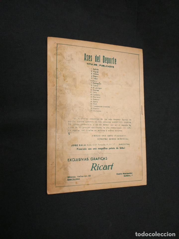 Tebeos: ASES DEL DEPORTE - Nº 19 - PUCHADES - GRAFICAS RICART - - Foto 7 - 181555993