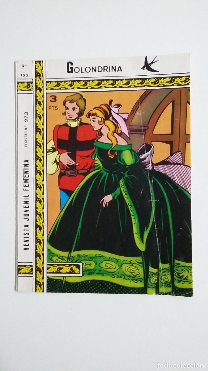 GOLONDRINA Nº 166. REVISTA JUVENIL FEMENINA. TDKC45 (Tebeos y Comics - Ricart - Golondrina)