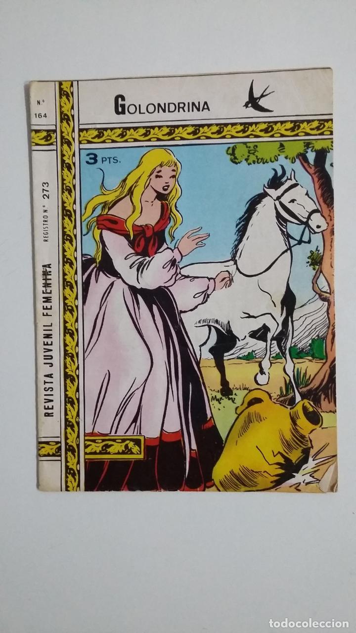GOLONDRINA Nº 164. REVISTA JUVENIL FEMENINA. TDKC45 (Tebeos y Comics - Ricart - Golondrina)