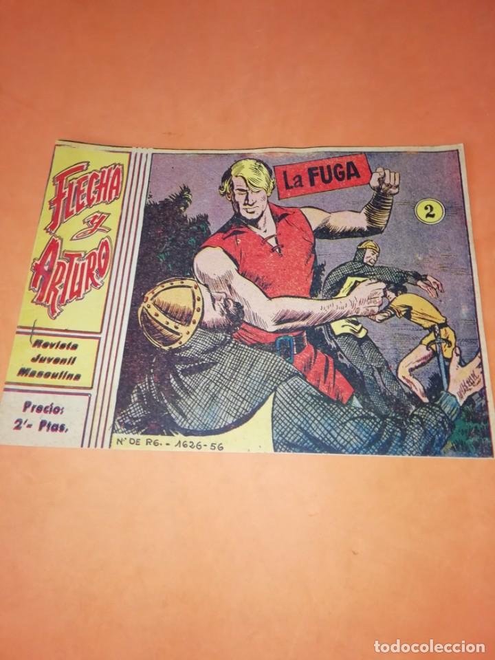 Tebeos: FLECHA Y ARTURO. Nº 2 LA FUGA. RICART. 1965. AVENTURAS DEL FBI. TERROR EN HOLLYWOOD. EDICOLOR 1958 - Foto 2 - 184336972