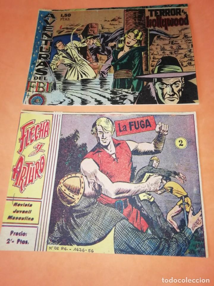 FLECHA Y ARTURO. Nº 2 LA FUGA. RICART. 1965. AVENTURAS DEL FBI. TERROR EN HOLLYWOOD. EDICOLOR 1958 (Tebeos y Comics - Ricart - Flecha y Arturo)