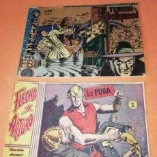 Tebeos: FLECHA Y ARTURO. Nº 2 LA FUGA. RICART. 1965. AVENTURAS DEL FBI. TERROR EN HOLLYWOOD. EDICOLOR 1958. Lote 184336972