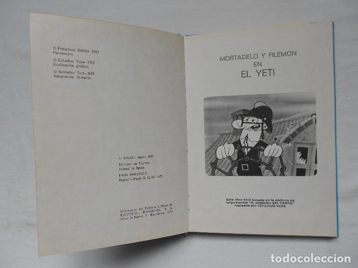 Tebeos: EL ARMARIO DEL TIEMPO Nº 3 EL YETI COLECCION PELICULAS MORTADELO AÑO 1973 - Foto 2 - 185710645