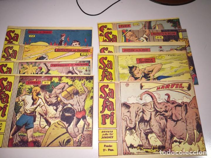 SAFARI REVISTA PARA LOS JÓVENES NUMEROS 1,2,3,8,11,12,14,15 Y 16 (Tebeos y Comics - Ricart - Safari)