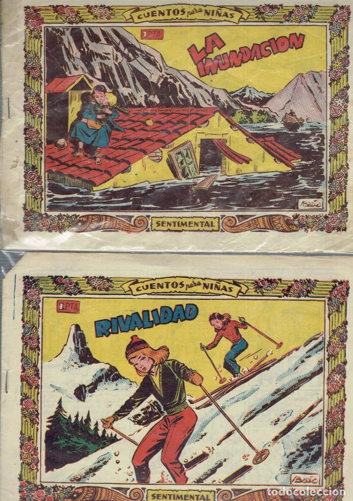 CUENTOS PARA NIÑAS GRAFICAS RICART 1958 LA INUNDACION Y RIVALIDAD (Tebeos y Comics - Ricart - Sentimental)