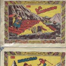 Tebeos: CUENTOS PARA NIÑAS GRAFICAS RICART 1958 LA INUNDACION Y RIVALIDAD. Lote 194273037