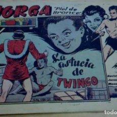 Tebeos: JORGA PIEL DE BRONCE LA ASTUCIA DE TWINGO Nº 9 RICART AÑO 1963. Lote 195210041