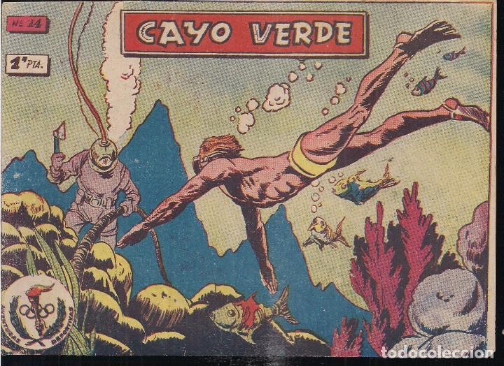 AVENTURAS DEPORTIVAS 1 PTA. Nº 14 CAYO VERDE (Tebeos y Comics - Ricart - Aventuras Deportivas)